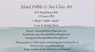 Island Pebble & Sea Glass Art